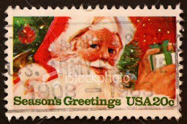 US Santa postage stamps