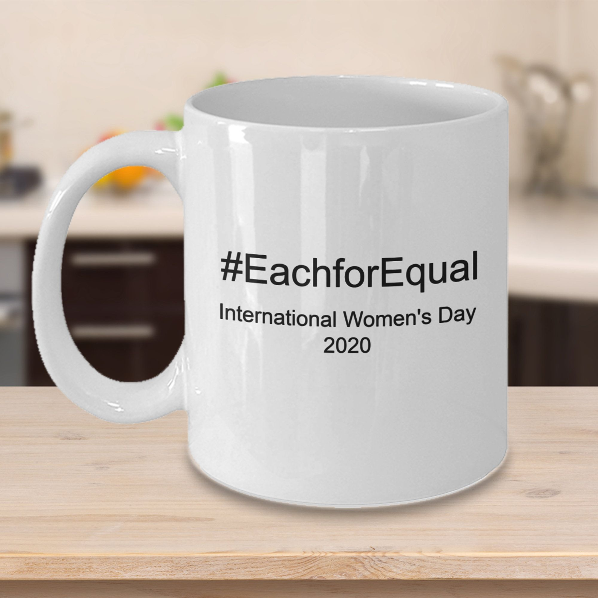 International Women's Day Coffee Mug, EachforEqual Theme