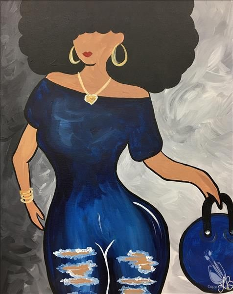 Painting With A Twist Art In 2019 Black Art Painting