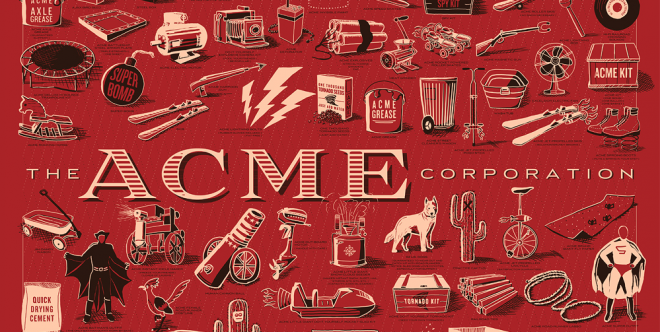 Artist and designer Rob Loukotka has drawn every product the ACME Corporation ever sold to Wile E. Coyote.
