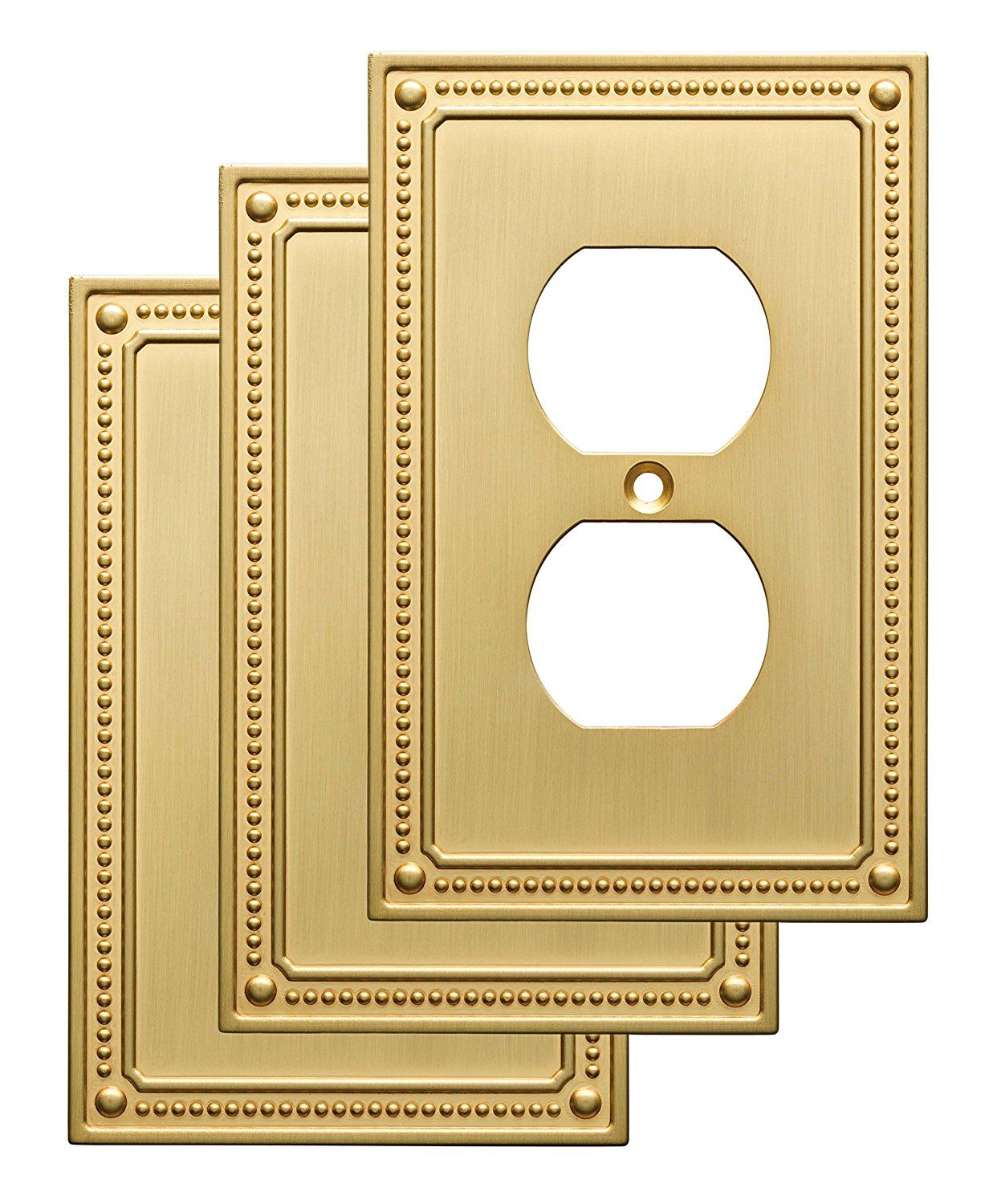 Franklin Brass W35059V-BB-C Classic Beaded Single Duplex Wall Plate ...