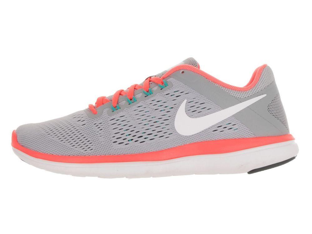 044705c15f8 NIKE FLEX 2016 RN Running WOMENS 10.5 Grey Bright Mango 830751 003 NEW  Nike   Running