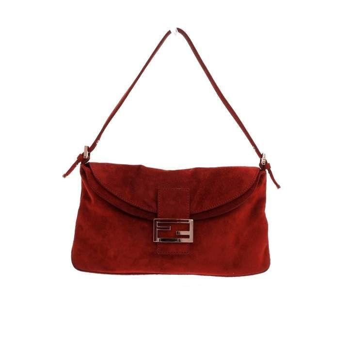 Baguette handbag Fendi Red in Suede  7995873baguette