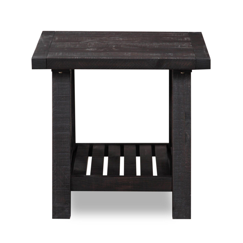 Vantage Side Table Rustic Black Rustic Side Table Wood End