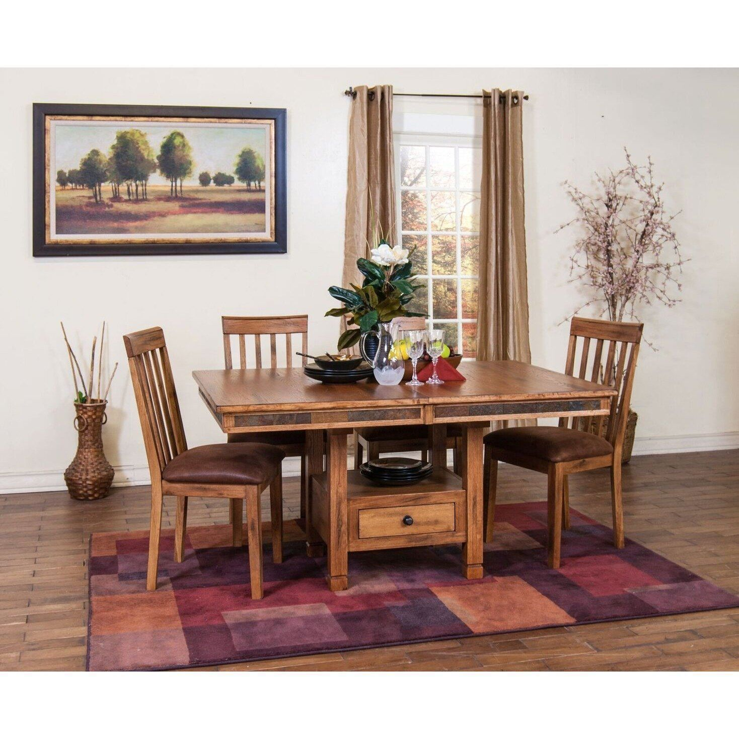 Sunny Designs Sedona Butterfly Dining Table | Pedestal ...
