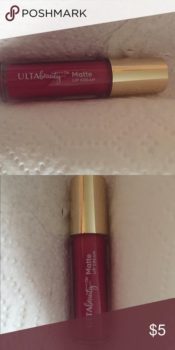 Bright Pink matte lip glass by Ulta Matte. Dark bright pink. New Makeup Lip Balm & Gloss