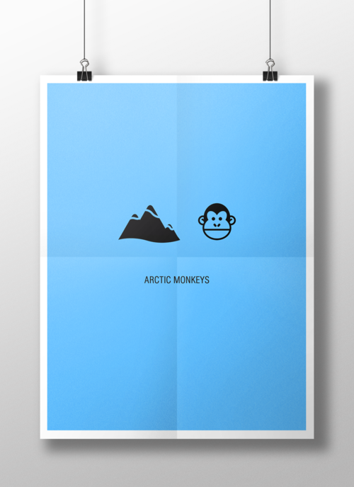 Minimalist Band Logos   Arctic Monkeys