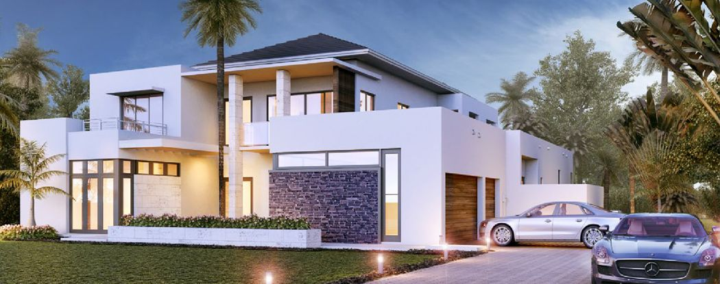 Oak Park New Miami Florida Beach Homes In 2020 Beach Floor Plans Oak Park Modern House Design