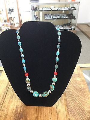 Southwestern genuine Kingman Turquoise and Sterling Silver Beads https://t.co/fMKuI49at1 https://t.co/pbxSrGATtT