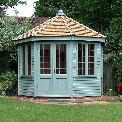 Garden Sheds John Lewis buy crane round pavilion summerhouse, 3 x 3m online at johnlewis