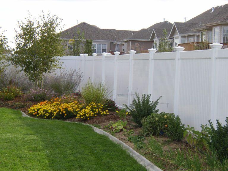 vinyl fence landscaping
