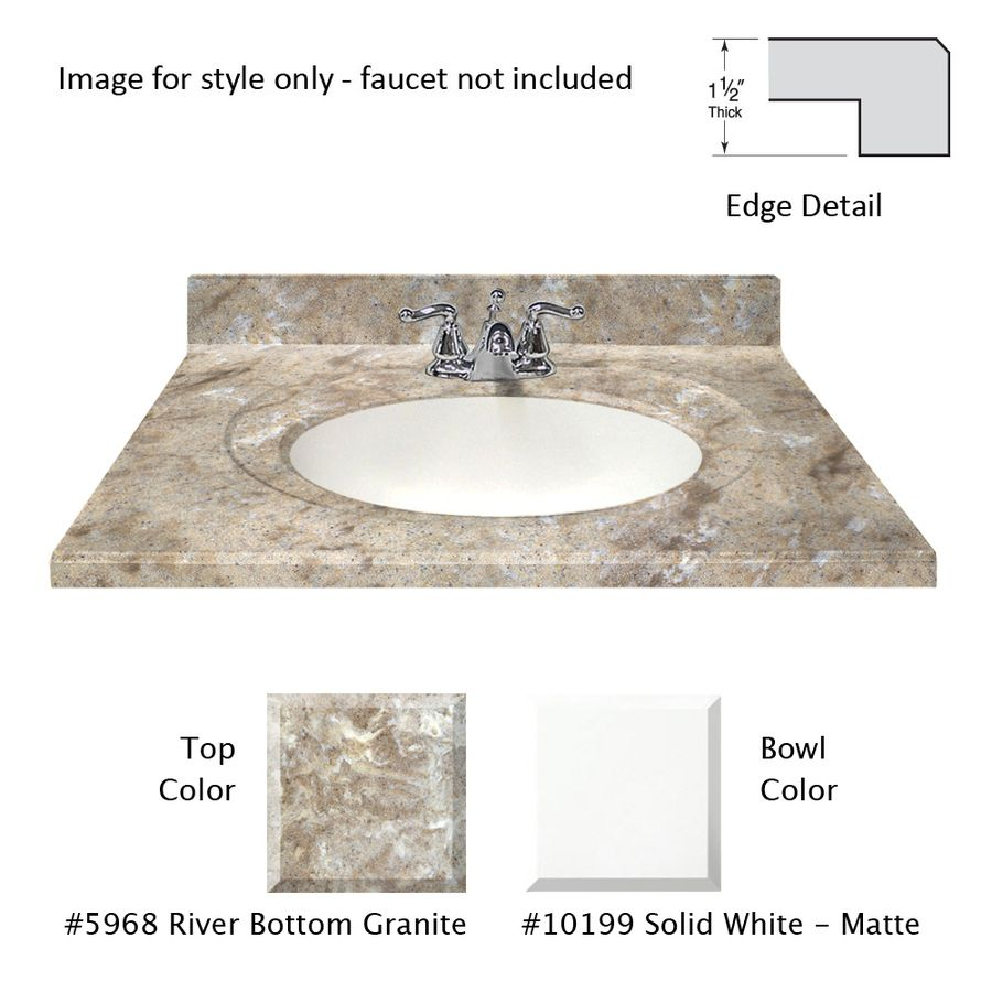 Us Marble Designer River Bottom Cultured Marble Integral Single