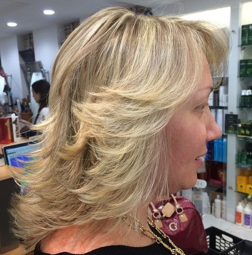 Simple Long Hair Wedding Style For Mother Of Groom In Her 60 S: 60 Most Prominent Hairstyles For Women Over 40