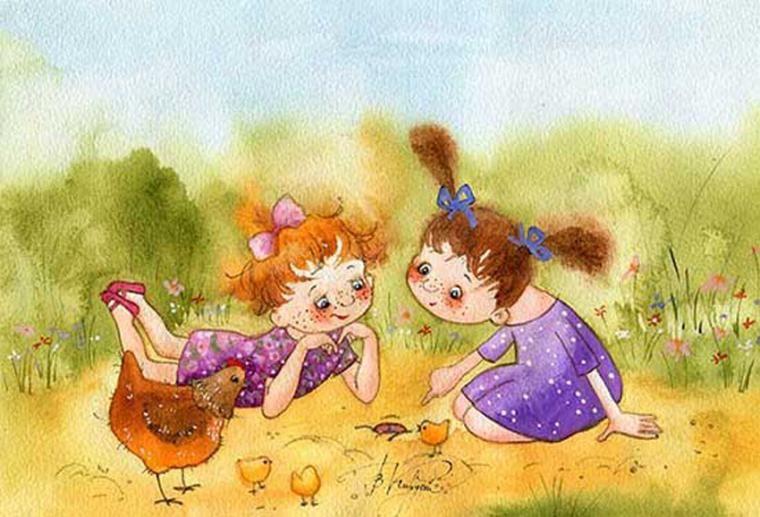 Детская открытка подруге, рисовать открытки видео