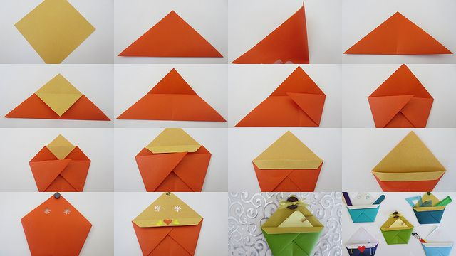 How to fold Letter Rack from origami. Simple model, great for storage.