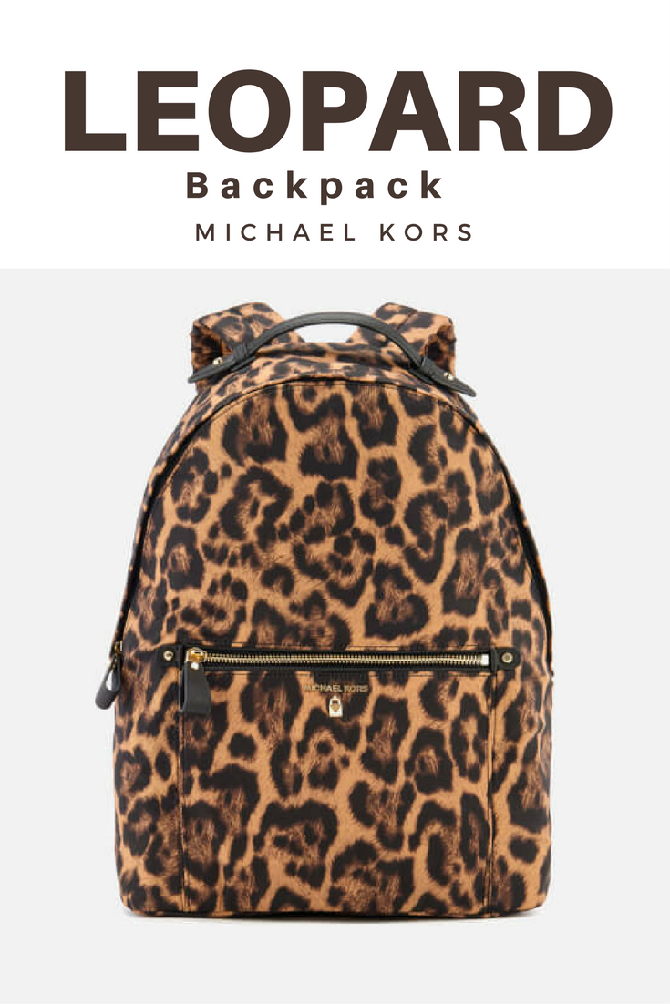 Animal print leopard cheetah print backpack by Michael Kors. Stylish bag  for everyday.  affiliate 600518335ab