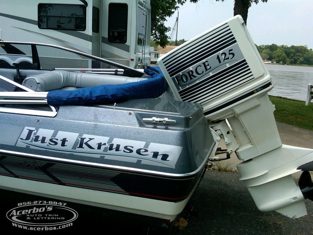 Bayliner 125 Force Outboard Motor Boat Custom Decal Graphics Name Plate Acerbo S Auto Trim Lettering