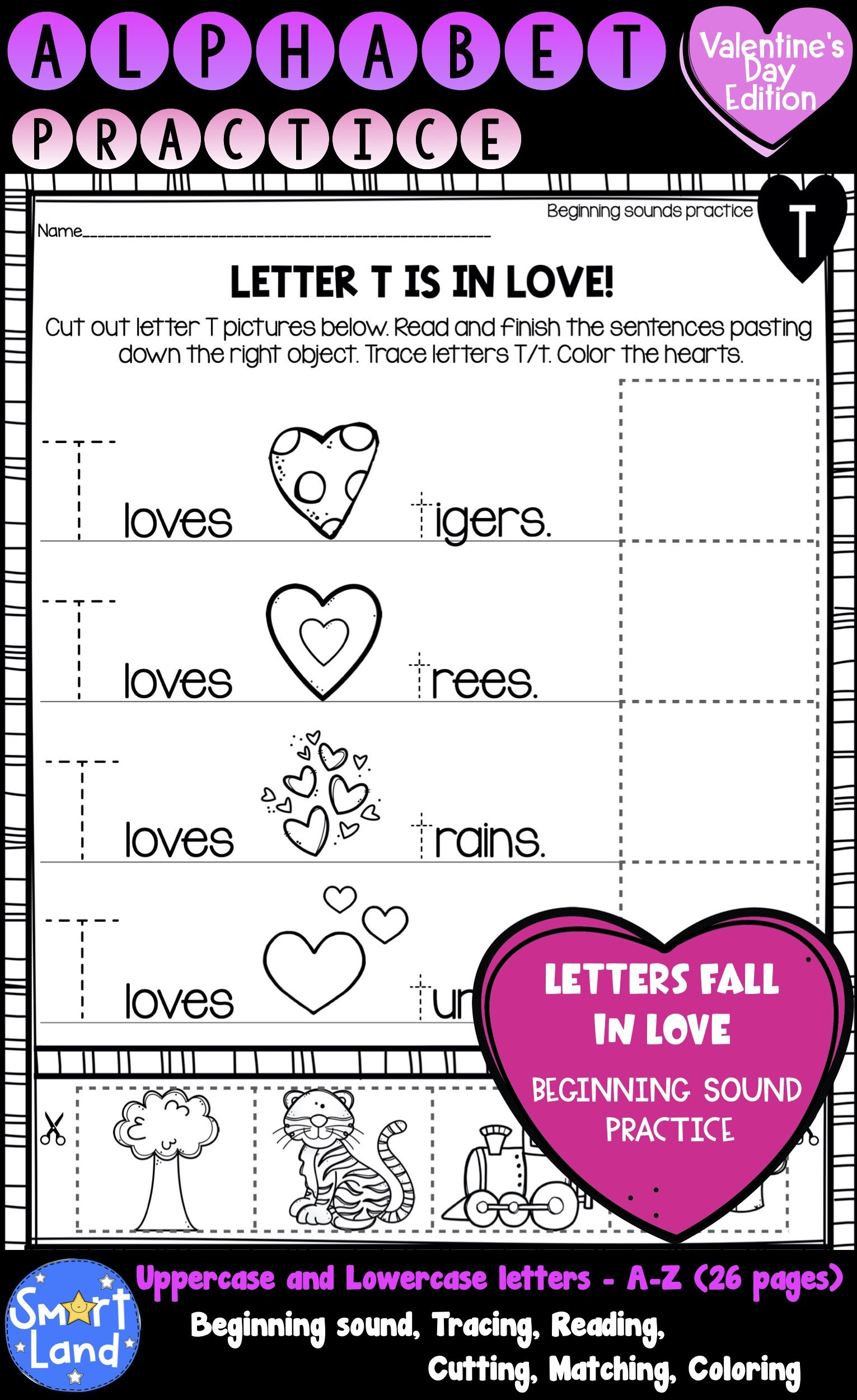 Alphabet Practice Valentine S Day