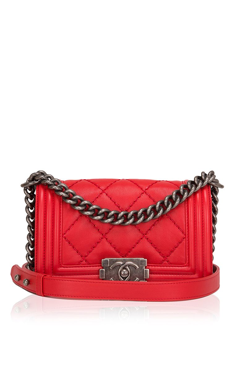 Chanel Red Quilted Calfskin Small Double Quilt Boy Bag - Preorder ... : red quilted chanel bag - Adamdwight.com