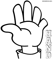 A Fun Picture To Color Of A Hand Waving Hand Coloring Coloring Pages Colorful Pictures