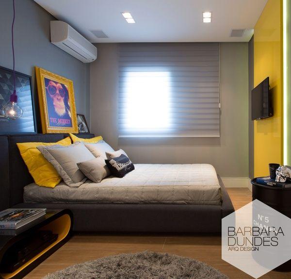 Young man bedroom | Quarto do jovem by Barbara Dundes, via ...
