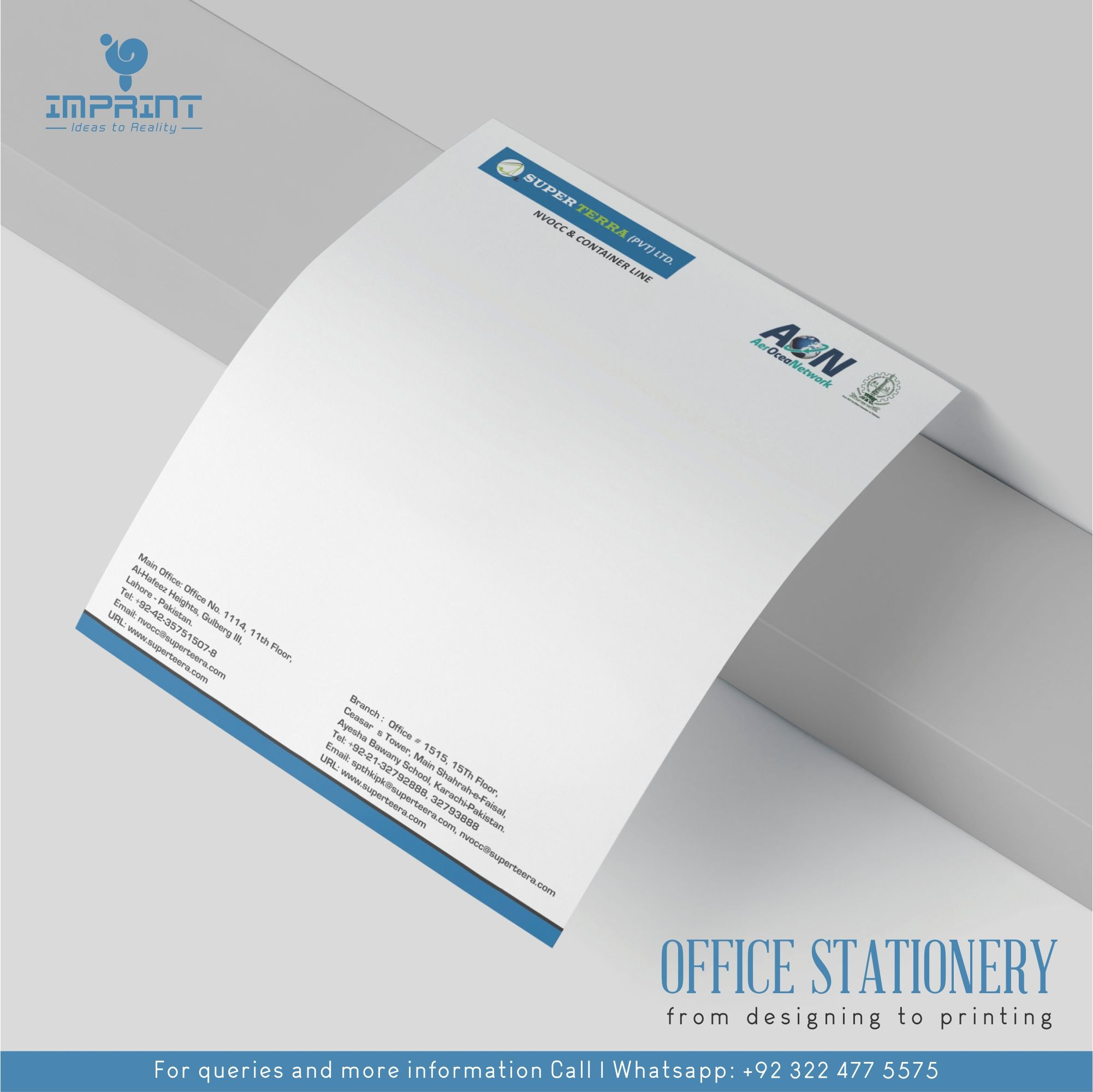 Office Stationery From Design To Print In 2020 Stationery Printing Office Stationery Logo Design Services