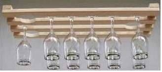 How To Build A Wooden Wineglass Rack Hunker Wine Glass Hanger Wine Glass Holder Hanging Wine Glass Rack