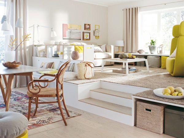 podest | Házak-Nappali | Pinterest | Podest, Wohnzimmergestaltung ...