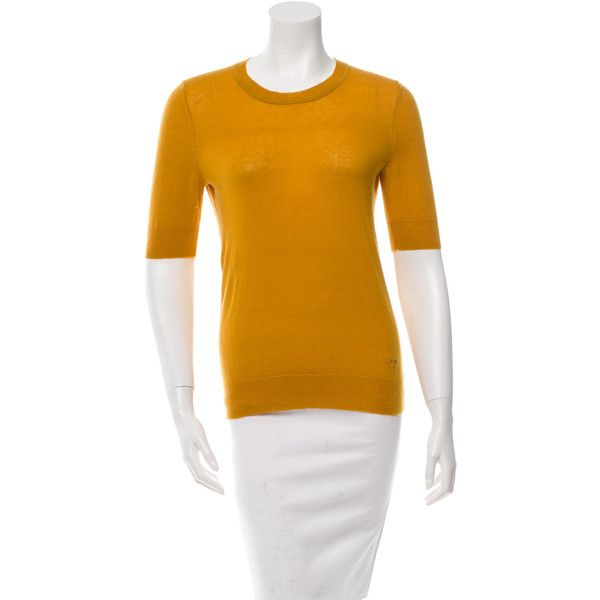Pre-owned Tory Burch Cashmere Crew Neck Sweater ($65) ❤ liked on ...