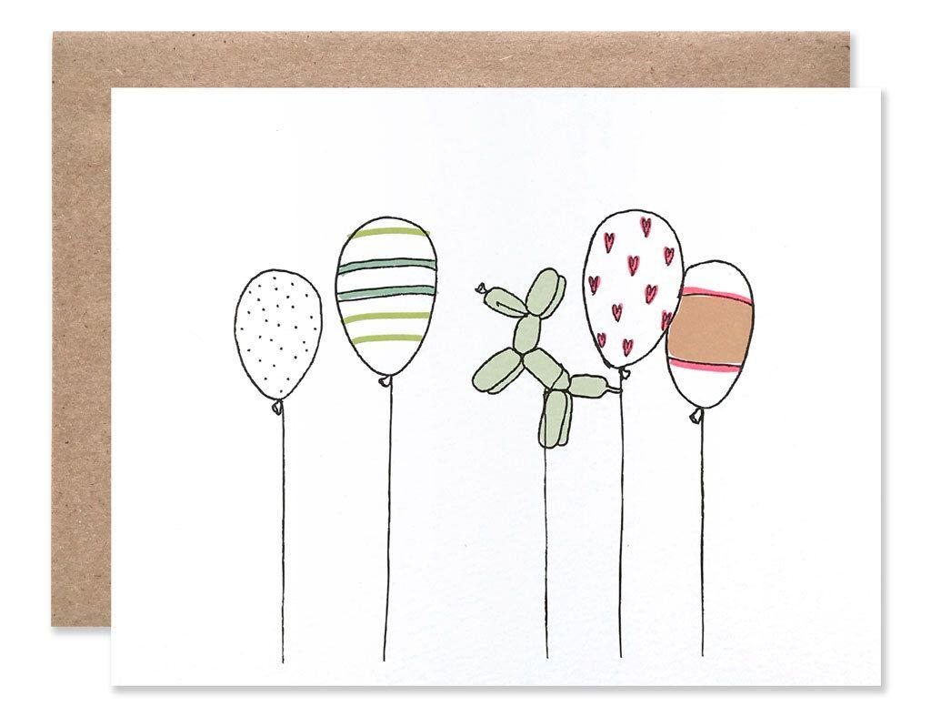Celebratory Balloons Card by HartlandBrooklyn on Etsy https://www.etsy.com/listing/101229061/celebratory-balloons-card