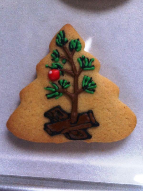 A Charlie Brown Christmas Cookie Christmas Xmas Holiday Food