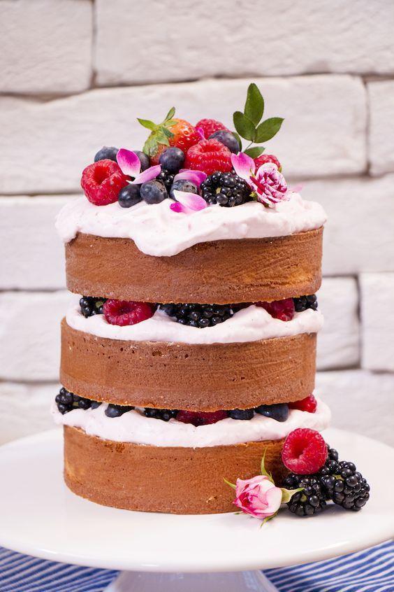 Veja a receita do naked cake do Ateliê Mãe e Filha