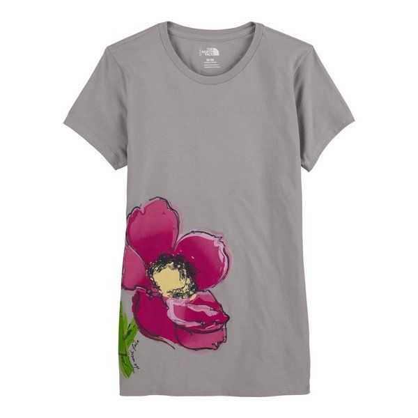 6761692b1be The North Face Painted Flower T-Shirt. I could do this!