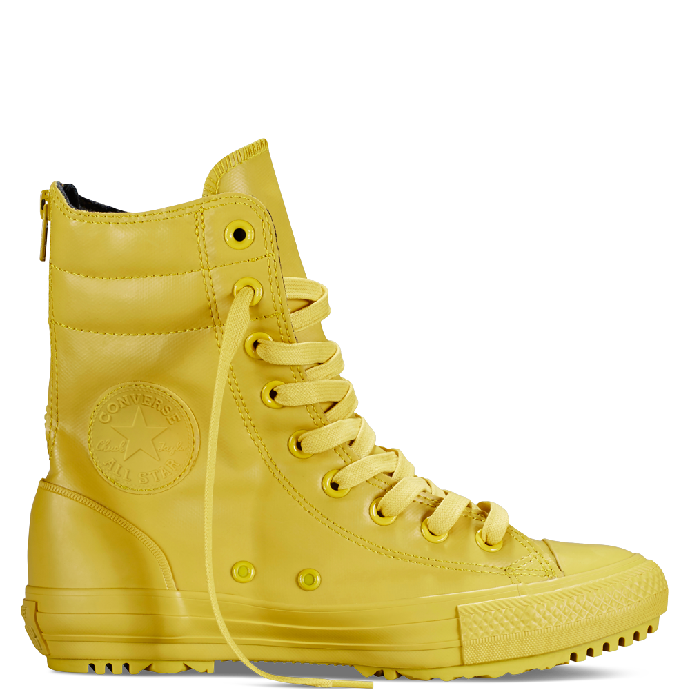 Yellow rubber converse