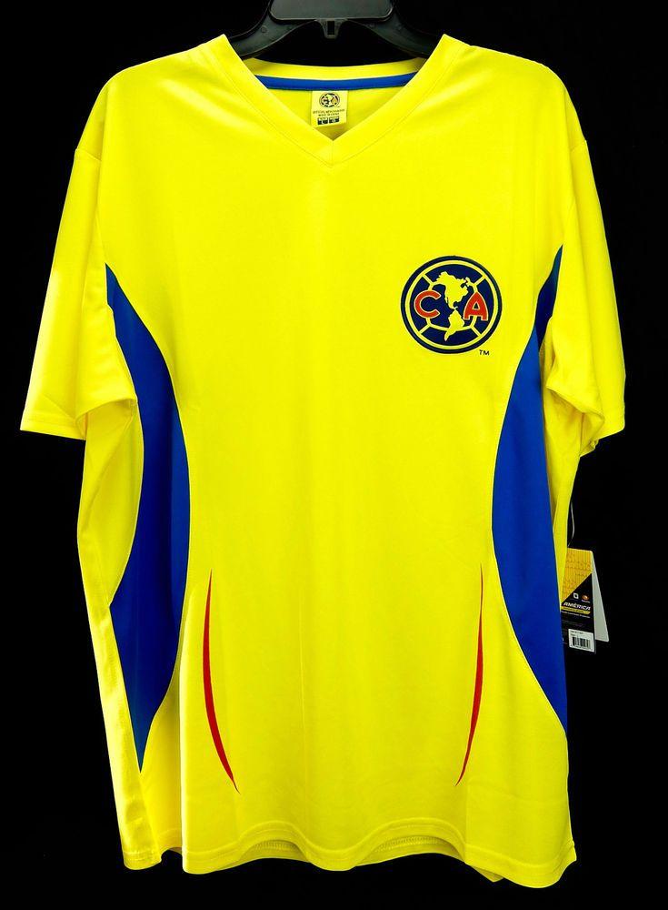 d33f1cc5a Club América Mexico City Soccer Licensed Futbol Fan Jersey Liga MX Men M L  XL #Rhinox #ClubdeFtbolAmrica