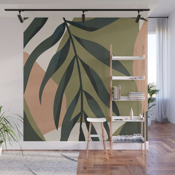 Tropical Leaf- Abstract Art Wall Mural by Thingdes