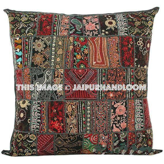 40X40 Black Sofa Pillows Indian Style Decorative Throw Pillows For Inspiration Indian Style Decorative Pillows