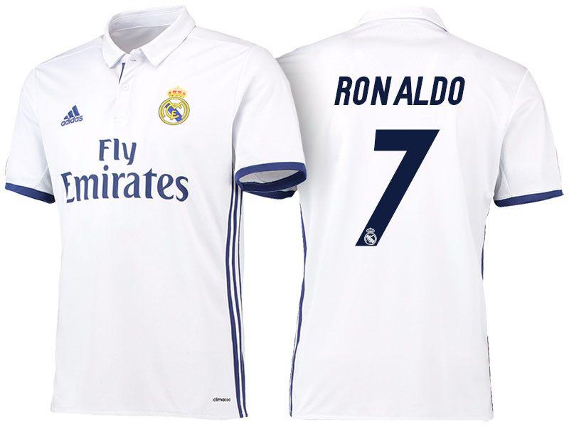 Real Madrid  7 Cristiano Ronaldo 2016-17 Home Jersey  0811a9791