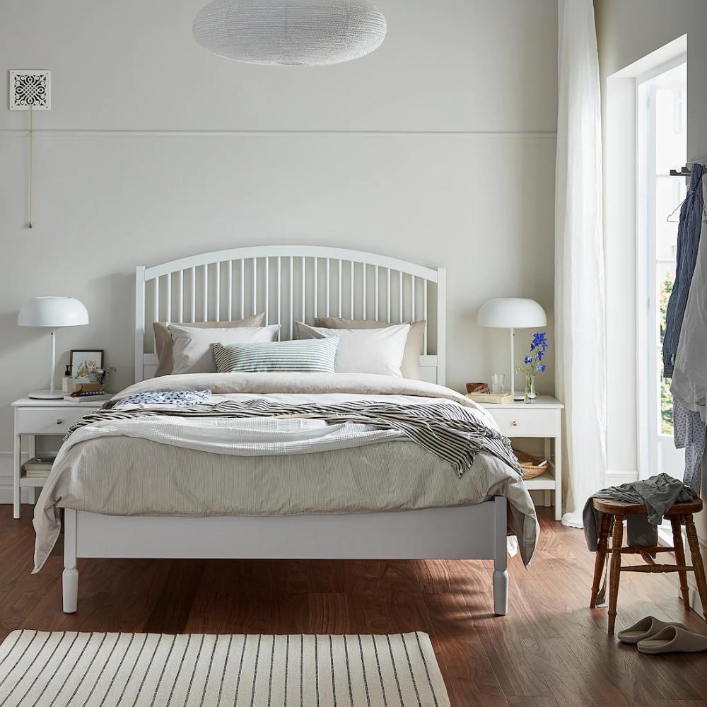 TYSSEDAL Bed frame, white, Lönset, Full IKEA