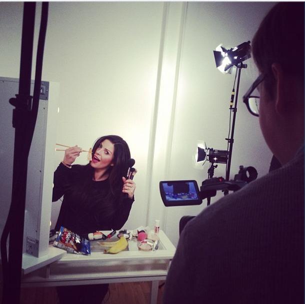 Hollie Wakeham filming