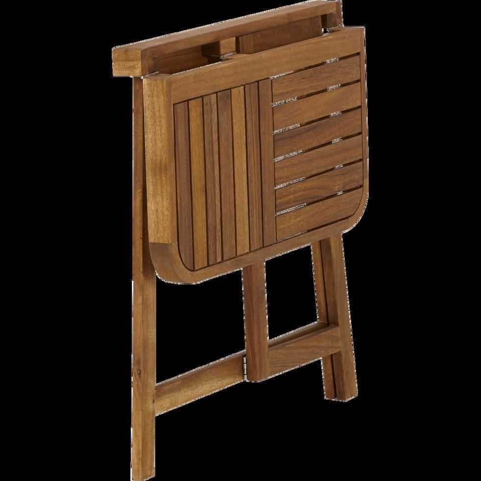 Demi table haute d\'appoint pliante en acacia huilé (2 places ...