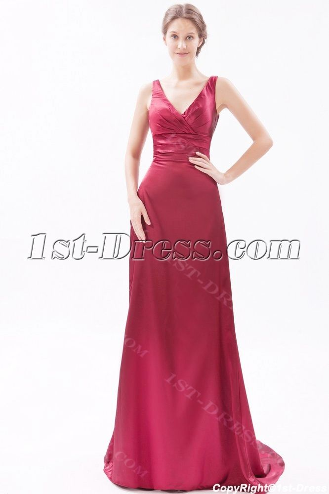 1st Dresscom Offers High Quality Burgundy Formal Evening Dresses