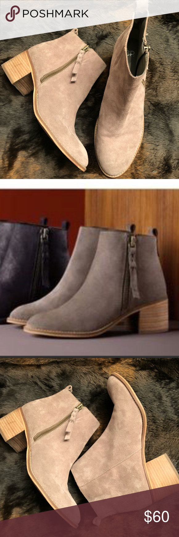 b7b01e4670471 BP Just Block Heel Bootie These boots are beautiful! They are composed of  leather and