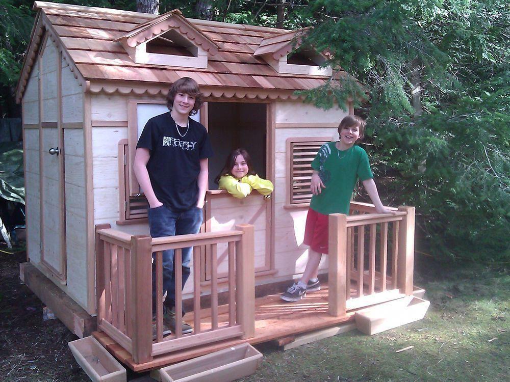 Cedar Play Houses Wooden Children Playhouses Build A