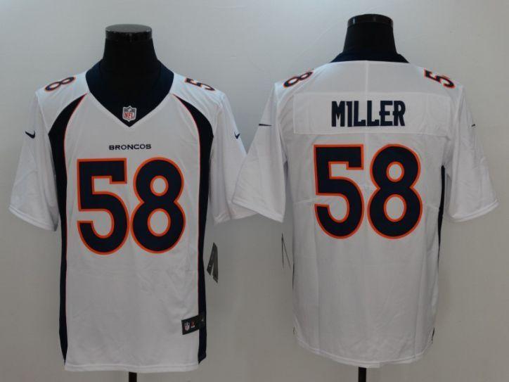 Men Denver Broncos 58 Miller White Nike Vapor Untouchable Limited NFL Jersey fde6a2498
