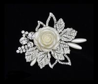 NEW STOCK!  Glamorous Starlet Hair Clip - Only £64!  Glamorous starlet Hair pin in a beautiful vintage inspired design with high quality cz crystals and ivory porcelain roses - measures approx 9cm x 6.5cm - Truly Stunning  http://www.vintageaddress.com/Glamorous_Starlet_Hair_Clip/p1143724_8561185.aspx