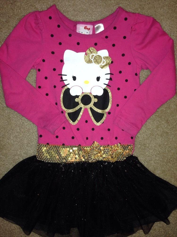 Hello Kitty Dress Girls Size XS 4/5 EUC #HelloKitty #Everyday