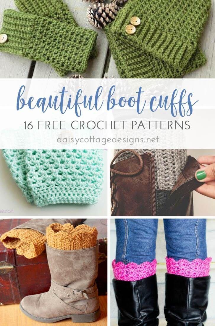 16 Free Boot Cuff Crochet Patterns