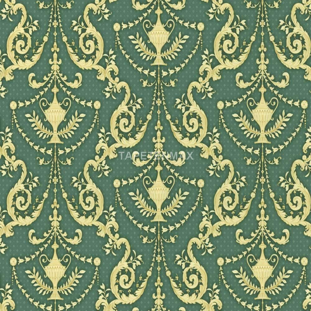 8867 29 hermitage 8 as creation vliestapete barock gr n gold tapeten wallpapers. Black Bedroom Furniture Sets. Home Design Ideas