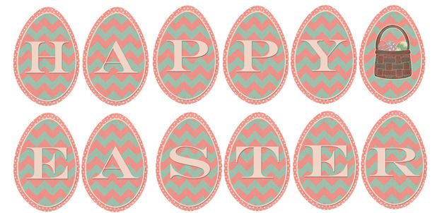 photo about Easter Banner Printable named Fridays Freebie: Pleased Easter Printable Banner Easter